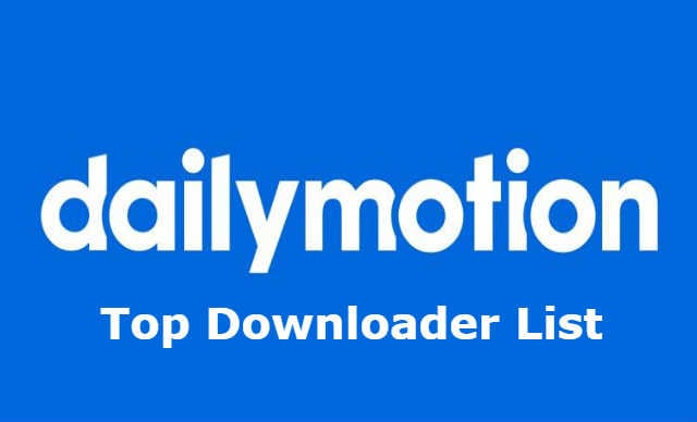 dailymotion video downloader list