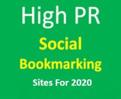 high pr social bookmarking website