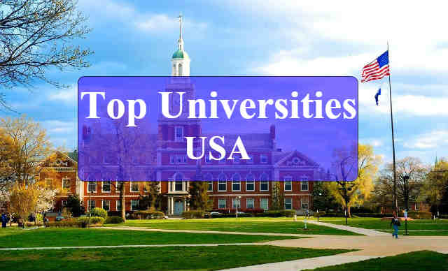 list of top Universities in usa